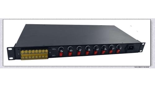 AC24V8A 机架式安防集中电源1U8路输出